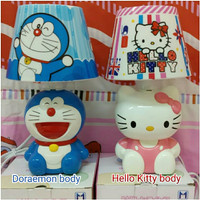 lampu meja/ tidur tudung karakter body usb Doraemon hello Kitty keropi