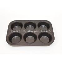 Jual Loyang Kue Teflon Anti Lengket / Muffin Pan 6 Cup Murah