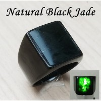 Cincin Batu Kesehatan Keren Natural Black Jade Asli Aceh
