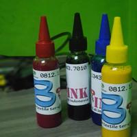 paket tinta textile CMYK masing-masing100 ml for printer DTG