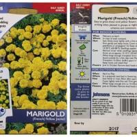 Harga benih bunga johnsons import marigold french yellow jack | Pembandingharga.com