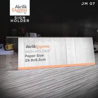 TERMURAH / Papan nama / Sign holder Akrilik JM007 / Tempat brosur