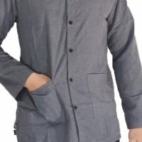 MODEL BARU Kemeja Premium Pria Koko Denim Basic Shanghai Polos Casual