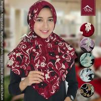 Jual jilbab/hijab instan rubiah ped tali motif Murah