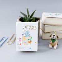 Buku Tulis / Pot Plant House Mini Plain Memopad / Buku Catatan