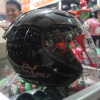 Helm Half Face KYT DJ MARU Solid Black