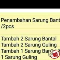 Tambah Sarung Bantal Star / Sprei Home Industri Murah / Sprei Cipadu