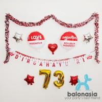Balonasia Balon Dekorasi 17 Agustus Kemerdekaan Merah Putih Kantor