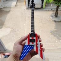 Harga miniatur gitar dean flying v usa dave mustaine megadeth | Hargalu.com