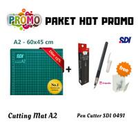 Paket Cutting Mat A2 + Pen Cutter