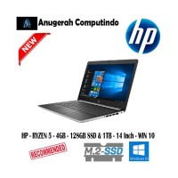 HP LAPTOP 14 Cm0078AU - RYZEN 5 - 4GB - 128GB SSD & 1TB - 14- win