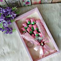 coklat buket bunga mawar