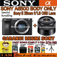 SONY ALPHA A6500 KIT 35MM F/1.8 OSS PAKET SMART / SONY A6500