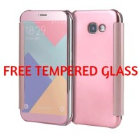 CASING SAMSUNG GALAXY A5 2017/A7 2017 MIRROR FLIP COVER CASE AUTOLOCK