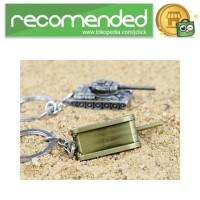 Gantungan Kunci Mobil Tank Baja Key Chain - Gold