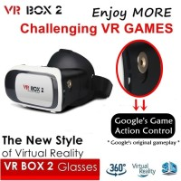 VR BOX 2 with Magnetic Button, Cardboard Virtual Reality Glasses