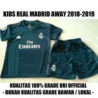JERSEY BOLA ANAK KIDS REAL MADRID AWAY 2018 2019 GRADE Diskon