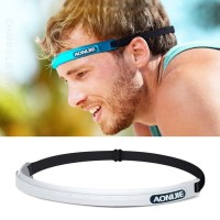 AONIJIE SWEAT BAND ANTI KERINGAT Sweaty Bands Gridlock Headband WHITE