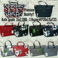 Tas Kate Spade 2in1 Import Premium Quality 3 ruang