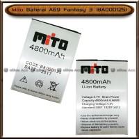 Baterai Mito A69 Fantasy 3 BA00125 Double Power Batre Batrai HP