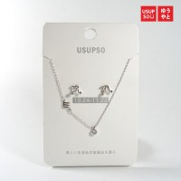 Usupso Zodiacal Constellation Necklace Earing Set / Kalung & Anting