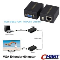 VGA Extender 60m to RJ45 LAN CAT5 CAT6 Ethernet Adapter - GRC-VG-VE060