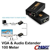 VGA Extender 100m to RJ45 LAN CAT5 CAT6 Ethernet Adapter GRC-VG-VE100