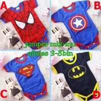 Harga baju bayi lucu jumper bayi karakter superhero   antitipu.com