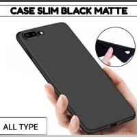 SILIKON Hp Case Slim Hitam BLACK iphone samsung xiaomi oppo vivo