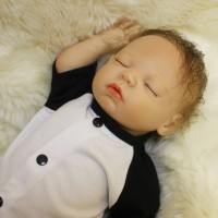 Big Promo Boneka Bayi Baru Lahir Mengenakan Jumpsuit , Dot & Topi