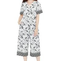 Batik Flike Store Jumpsuit Wanita Jumpsuit Fabulous White