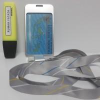 Tanda Pengenal NameTag ID Card Alumunium Model 1 Silver Tali Silver Gr