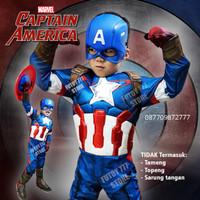 Kostum CAPTAIN AMERICA baju anak laki lelaki avengers cosplay ultah