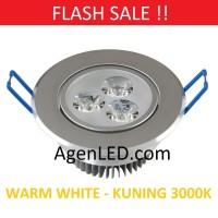 Lampu Downlight LED Spot sorot 3W Kuning 3 w watt mata 3watt WarmWhite