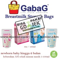 Jual GABAG - KANTONG ASI 100ML (ISI 30 PCS) / BREASTMILK STORAGE BPA FREE