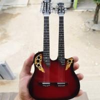 Harga miniatur gitar ovation double neck red richie sambora | WIKIPRICE INDONESIA