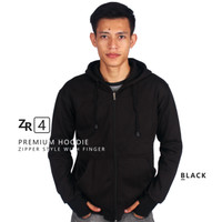 Jaket Hoodie Zipper Premium Fleece M4 Polos /jaket hijab panjang syari