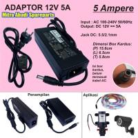 Adaptor 12V 5A 60W / 12 Volt 5 Ampere 60 Watt