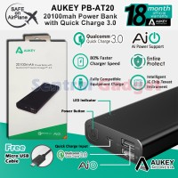 Powerbank Aukey PB-AT20 Power Bank 20100mAh Qualcomm Quick Charge 3.0