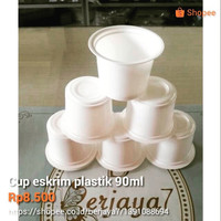 Cup eskrim plastik 90ml