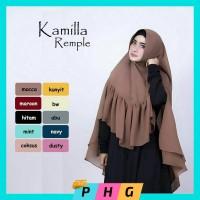 Jual Jilbab Instan Syari | Hijab Kerudung Syari Khimar Kamila Rempel Murah
