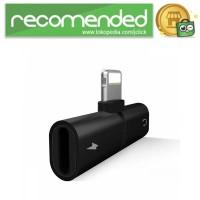 Audio Converter Lightning Audio Splitter for iPhone 7/8/X - Hitam