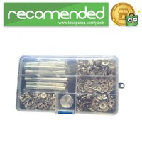 Set Perlengkapan Jahit Poppers Leather Craft with Fixings Tools Kit -