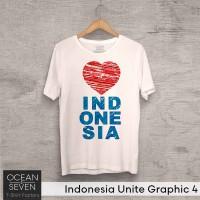 Jual Baju Cinta Indonesia - Kaos Nasionalisme - Tshirt Ocean Seven Murah