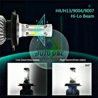 Lampu H4 LED COB 3 sisi Headlamp Mobil Motor
