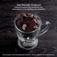 Tulip Dark Chocolate Compound Coin 100gr Cokelat Tulip koin REPACK