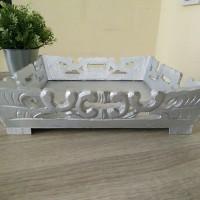 kotak hantaran kayu silver tutup mika isi 1 sudut atas