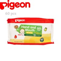 GROSIR Pigeon Baby Hand and Mouth Wipes Tissue 60 Pcs
