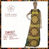 MAXI DRESS KEKINIAN-D067 Yellow