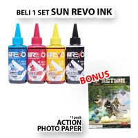 TINTA SUN REVO INK BCMY 100 ML For: Printer Epson Canon HP Brother dll